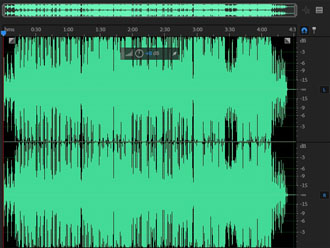保存音频中的局部